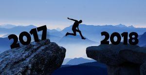 tekening over de overgang van 2017 naar 2018